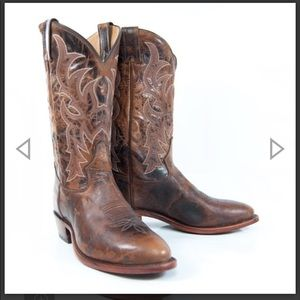 Tony Lama Prine Dark Brown Western Cowboy Boot